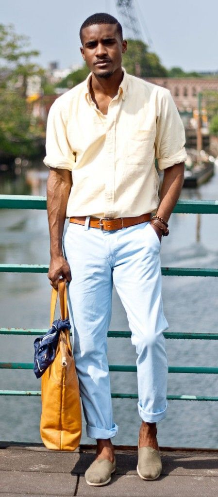 How to Wear Light Blue Chinos (29 looks) | Men's Fashion
