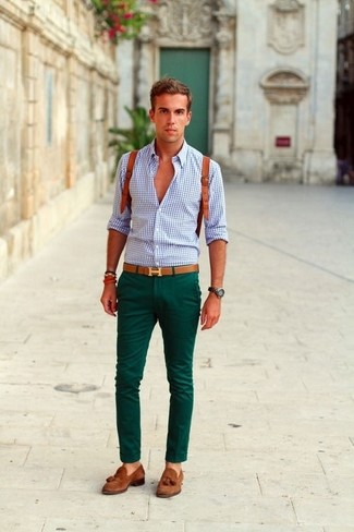 With green chinos what goes Men's Green