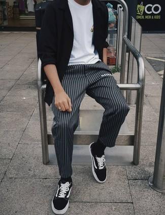 Harness Strap Stretch Shirt Black