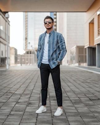 London Stripe Cotton Shirt