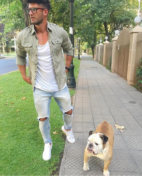 How to Wear Light Blue Ripped Skinny Jeans (37 looks)   Men's Fashion