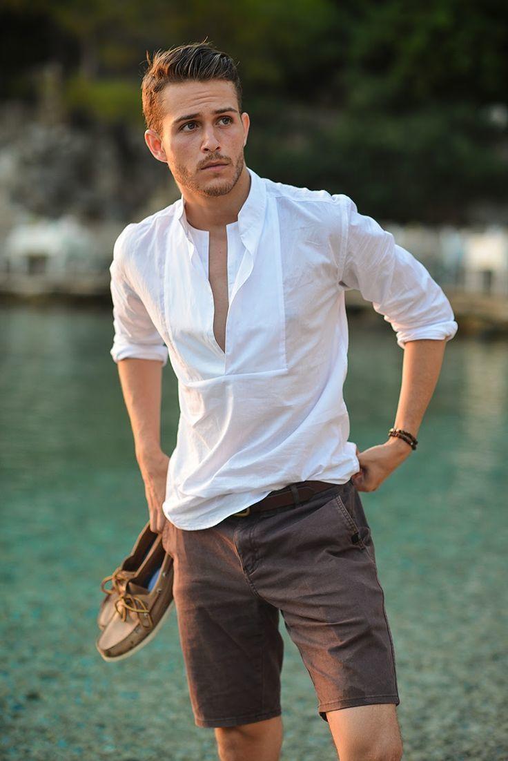 How to Wear Dark Brown Shorts (14 looks) | Men's Fashion