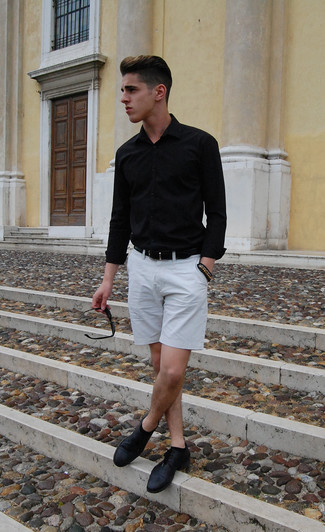 s white sleeve t shirt grey shorts brown bracelet s fashion
