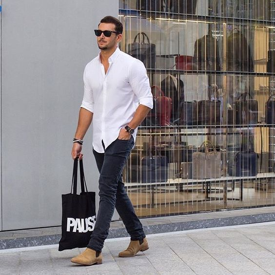 How to Wear Tan Chelsea Boots (37 looks) | Men's Fashion