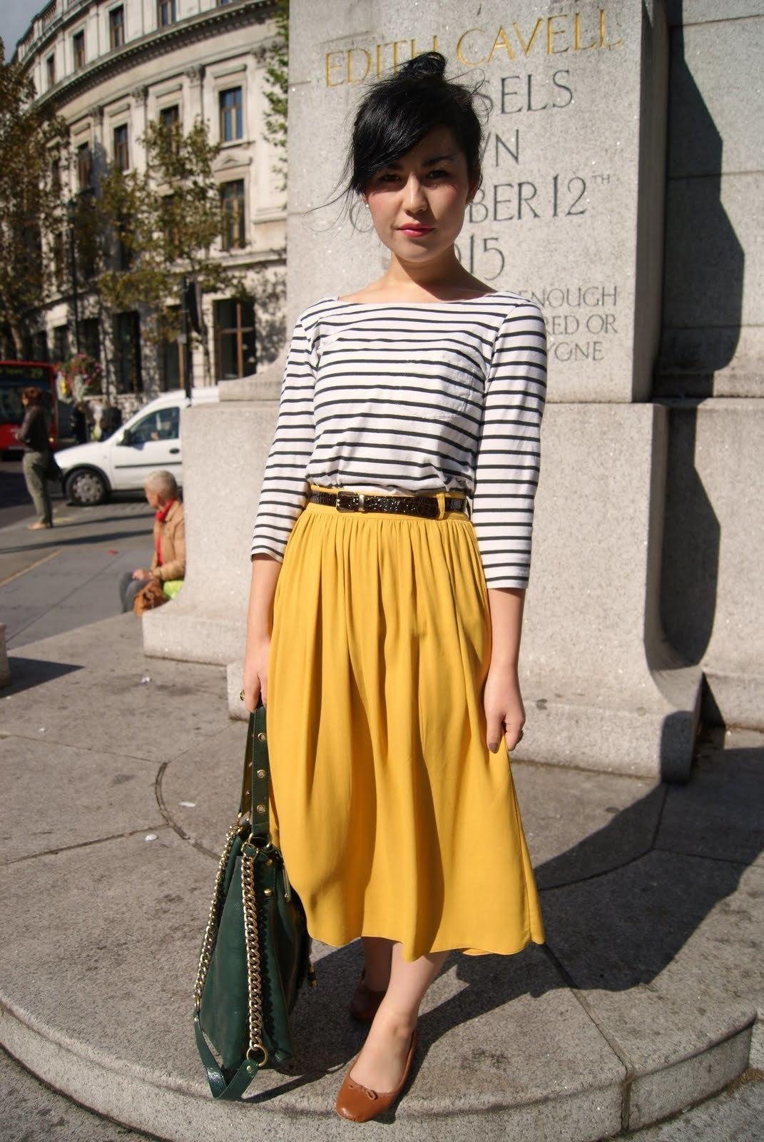 Women's White and Black Horizontal Striped Long Sleeve T-shirt ...