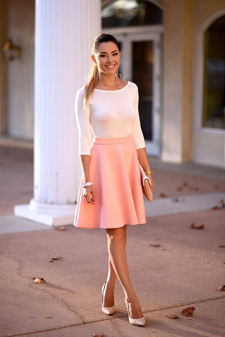 Pink Midi Skirt | Women's Fashion