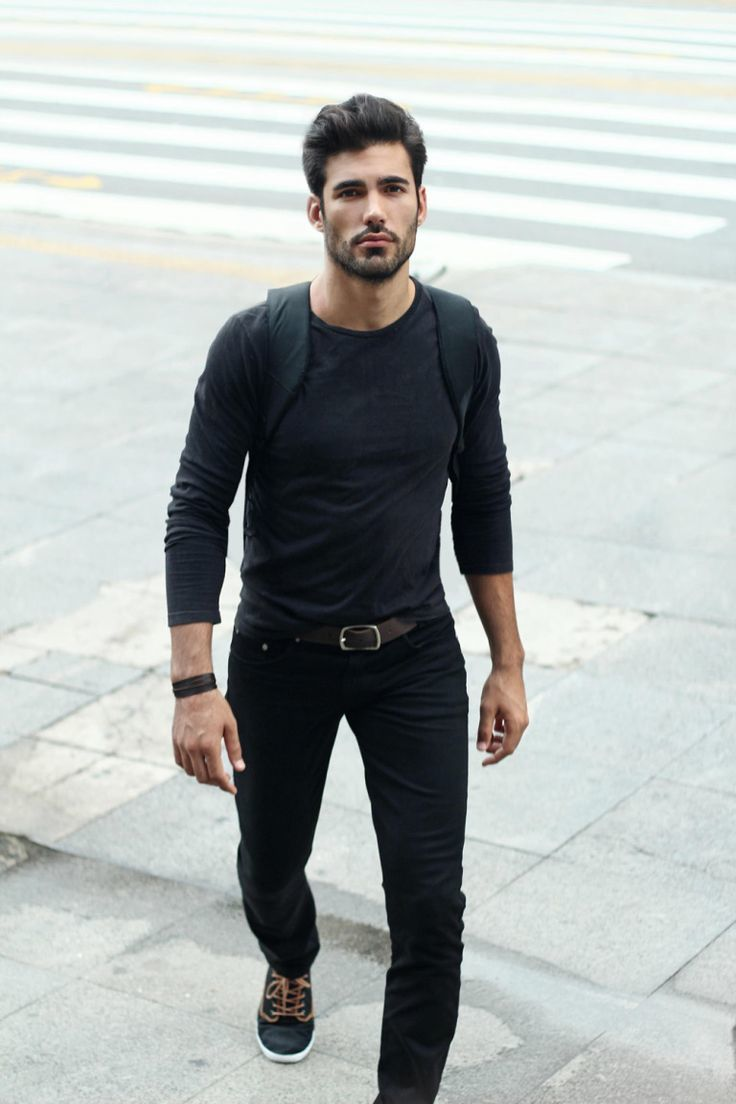 Black Shirt With Black Jeans - Jeans Am