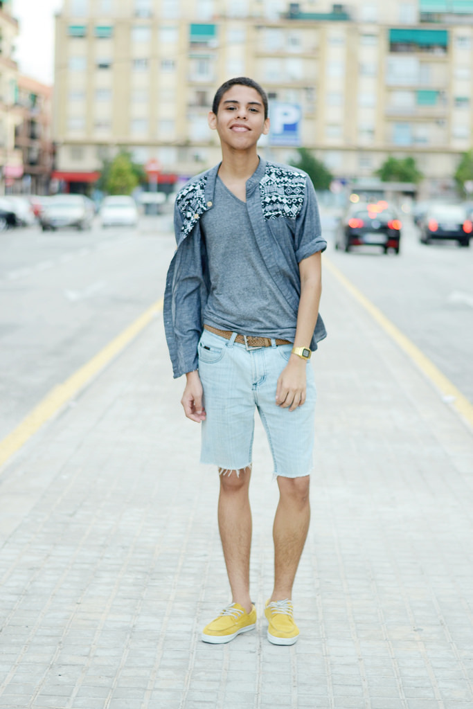 Longsleeve-shirt-and-v-neck-t-shirt-and-denim-shorts-and-boat-shoes-and-watch-and-belt-original ...