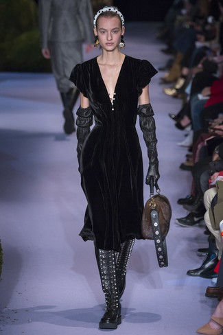 Leather Fringed Glove
