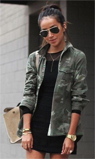 Military Patched Workwear Jacket