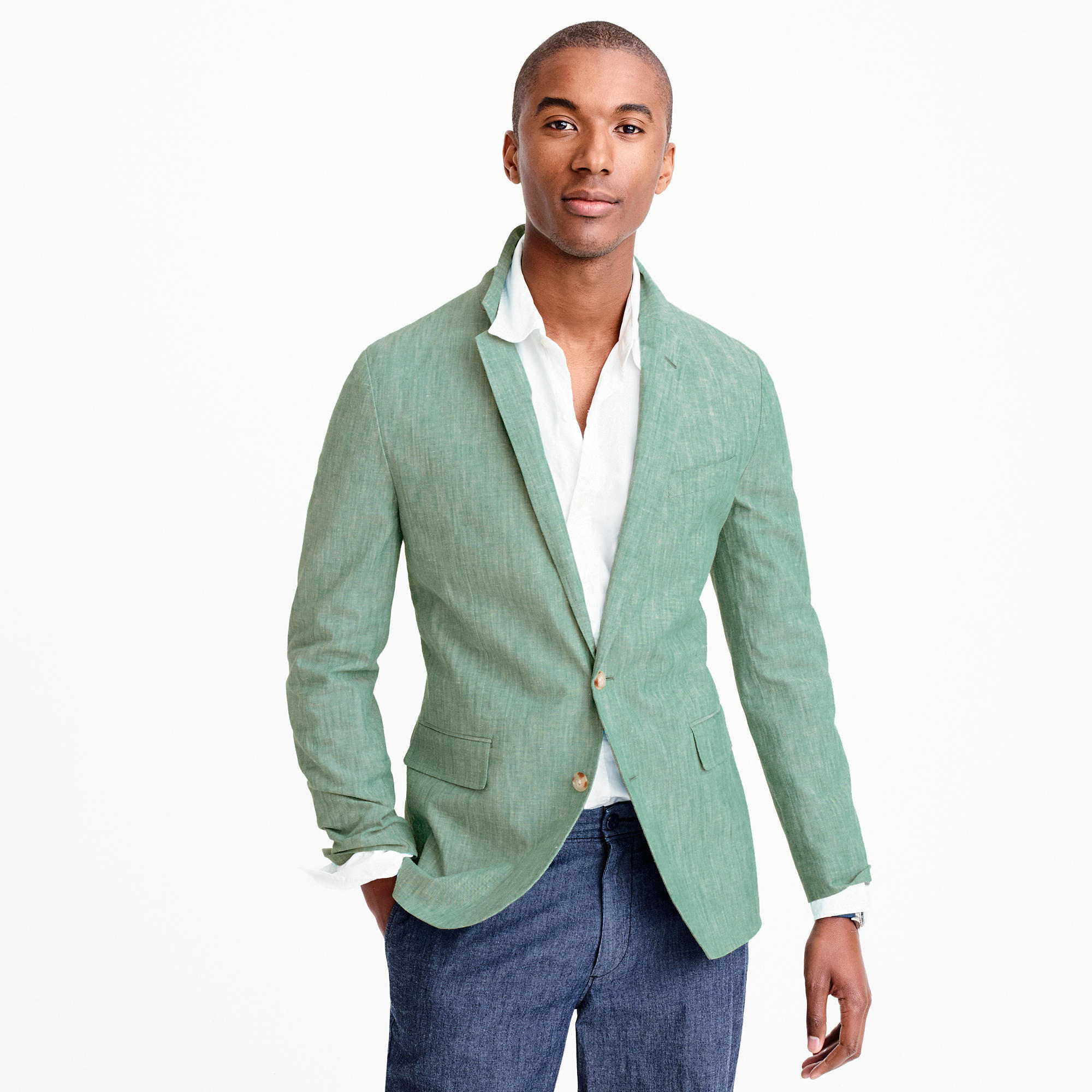 How To Wear Navy Dress Pants With a Green Blazer | Men's Fashion