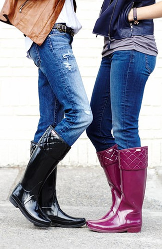 dressy rubber boots