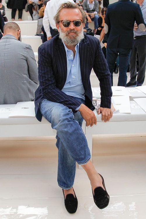 Light Blue Blazer and Jeans for Men