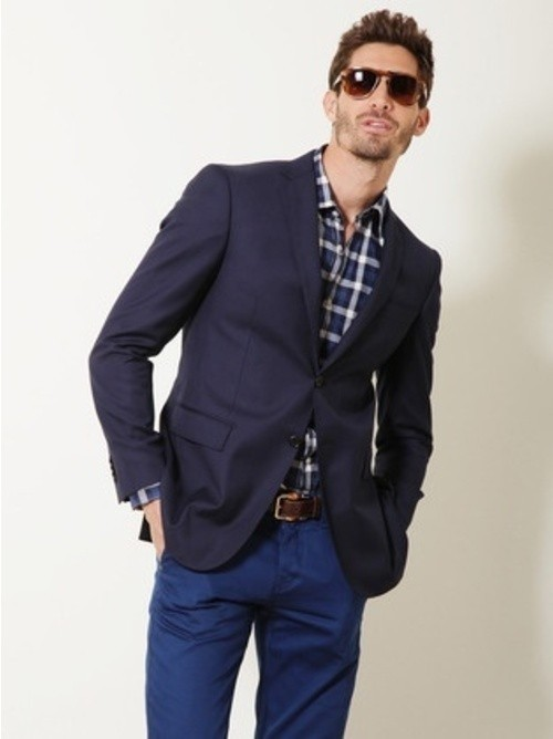 How To Wear a Navy Blazer With Blue Chinos | Men's Fashion