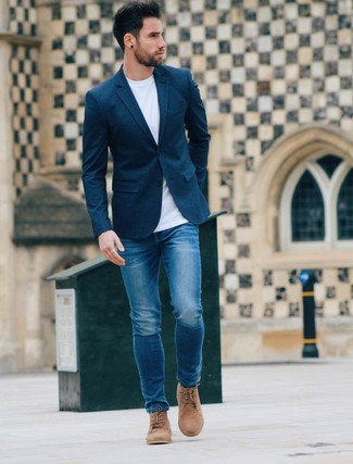 How To Wear a Navy Blazer With Blue Jeans | Men's Fashion