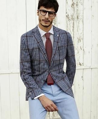 How to Wear Light Blue Dress Pants (18 looks)  Men&39s Fashion