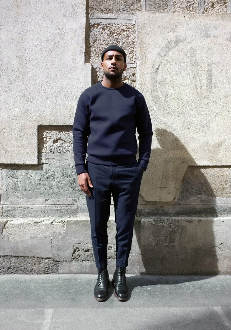 How To Wear Navy Dress Pants With Black Leather Boots | Men's Fashion