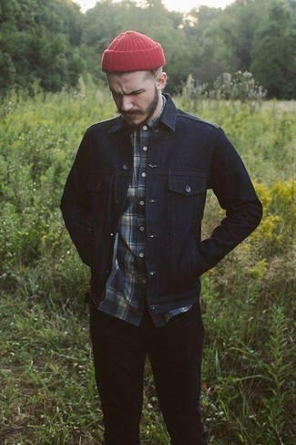 Modern Slim Fit Plaid Shirt