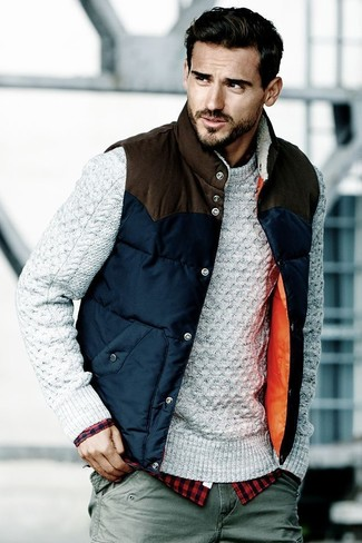 24cb9dc040 ... Men s Navy Quilted Gilet
