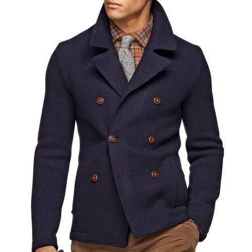 How to Wear a Navy Pea Coat (45 looks) | Men's Fashion