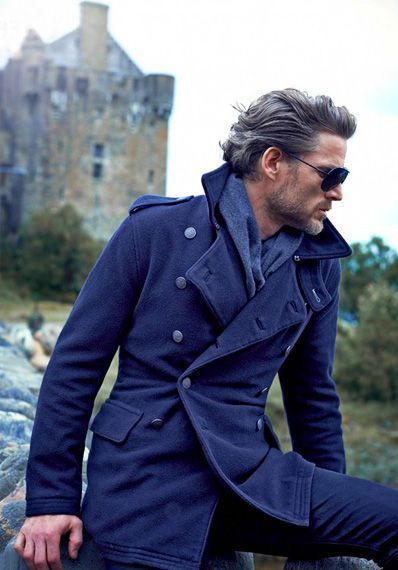 How To Wear a Pea Coat With a Navy Scarf | Men&39s Fashion