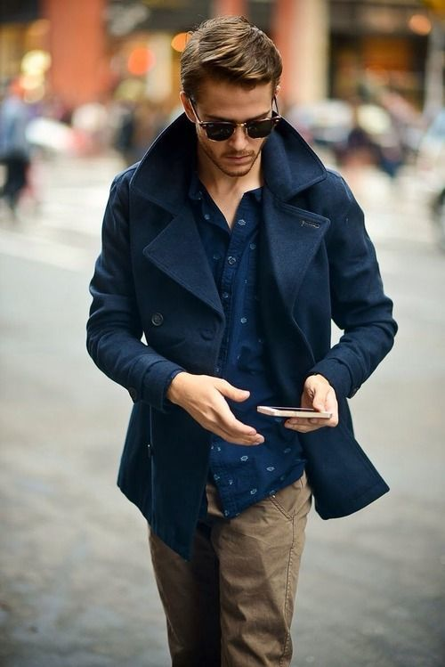 Navy Pea Coats For Men eWnpgP