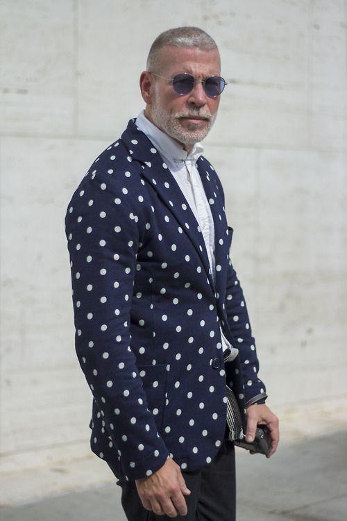 Dark Blue Polka Dot Shirt Pair a Deep Blue Polka Dot