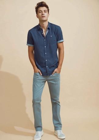 Jeans Printed Shortsleeved Shirt