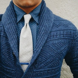Elbow Patch Shawl Cardigan