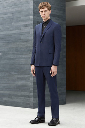 Dunkelblauer anzug schuhe blauer anzug braune schuhe ti51 for Navy suit black shirt