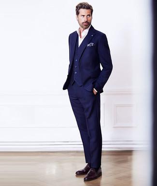 Navy Vested X Slim Fit Suit