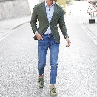 Olive Low Top Sneakers Outfits For Men
