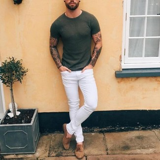 Brit Steadman Slim Fit Jeans White
