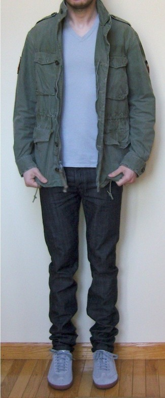 Collared Military Jacket