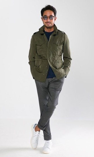Regular Fit Military Jacket