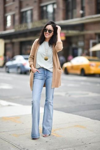 Light Blue Flare Jeans | Women's Fashion