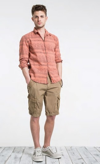 69e6979f40155 How to Wear Tan Shorts For Men (127 looks   outfits)