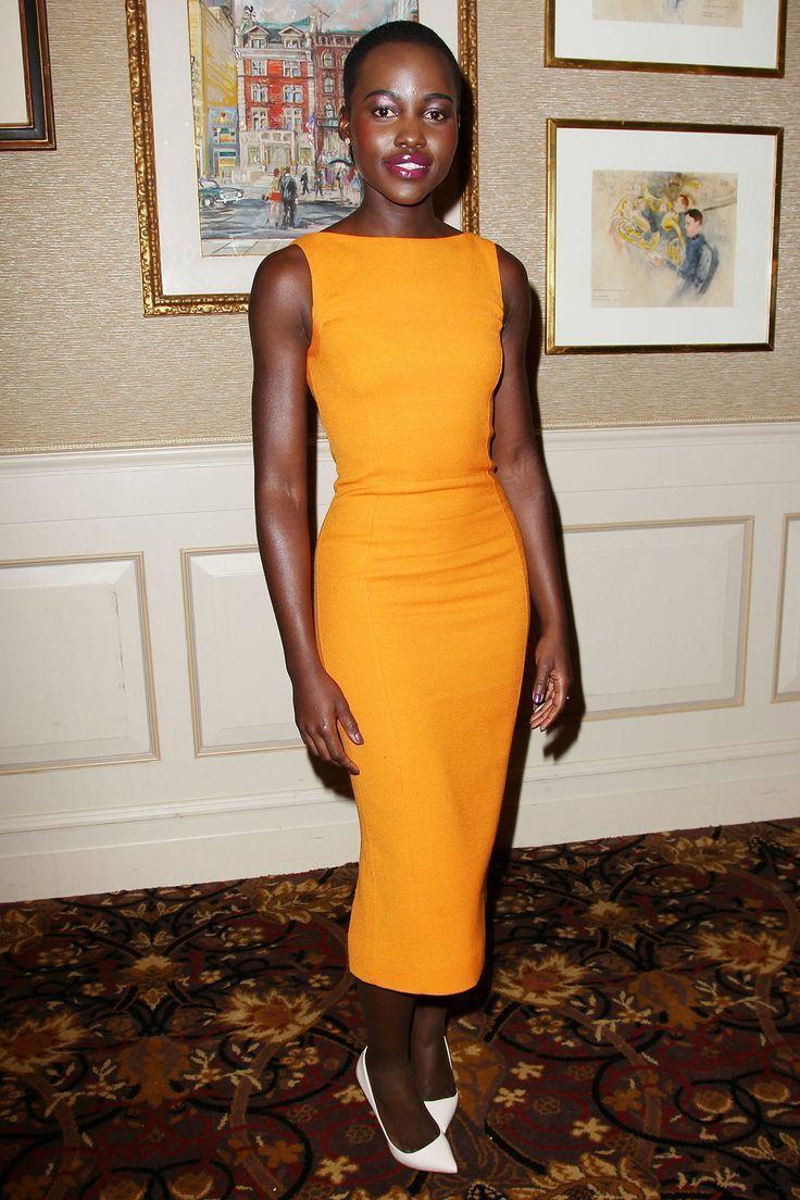 67696ff6 How to Wear an Orange Sheath Dress (43 looks & outfits) | Women's ...