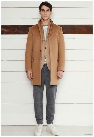Darien Solid Cashmere Overcoat