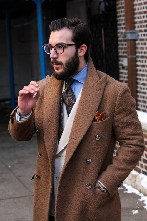 How to Wear a Brown Overcoat (66 looks) | Men's Fashion