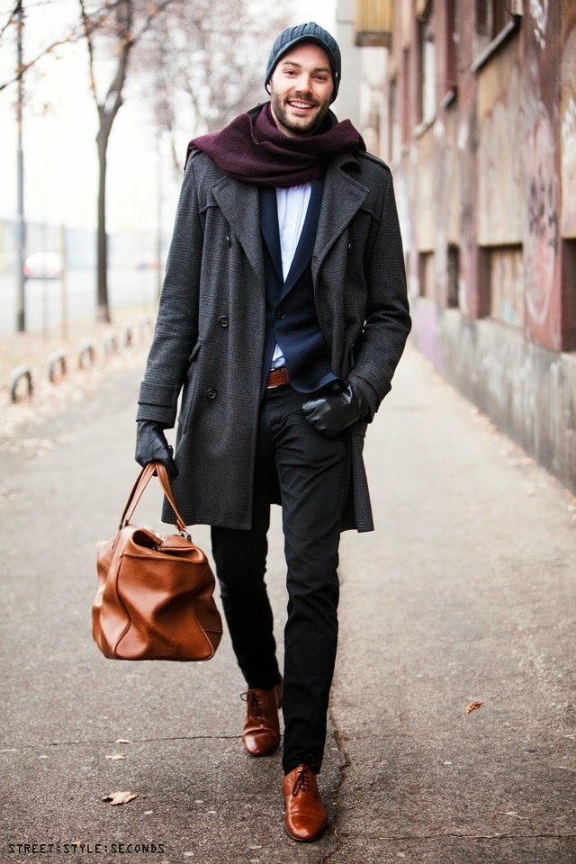 Black dress pants with light brown shoes
