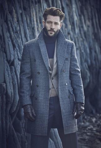 Plaid Wool Overcoat