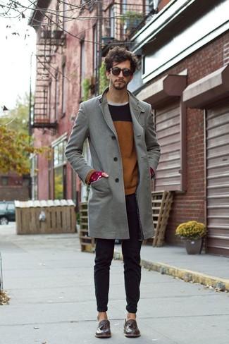 Boss Contrast Collar Overcoat
