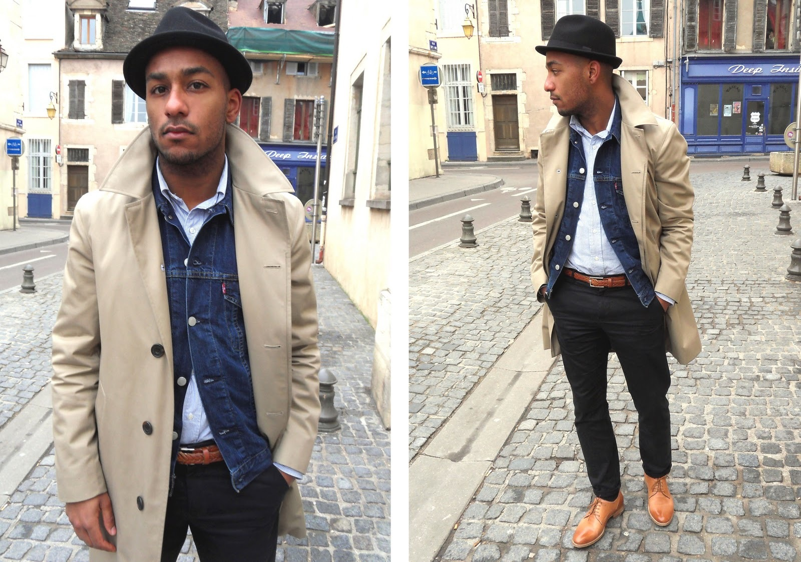 Black Chinos Outfit Overcoat With Black Chinos