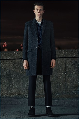 Long Double Breasted Coat Greengray