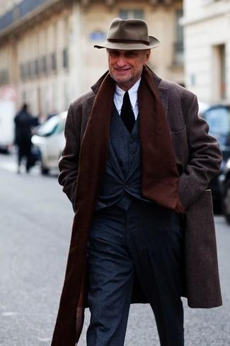 Iconic Manhattan Melange Wool Blend Coat