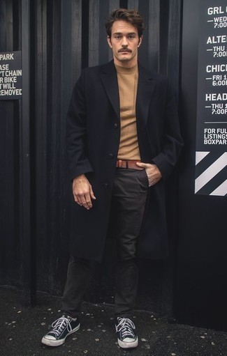 Double Breasted Runway Coat In Wool Blend