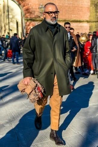 Dark Brown Polished Leather Shine Boots