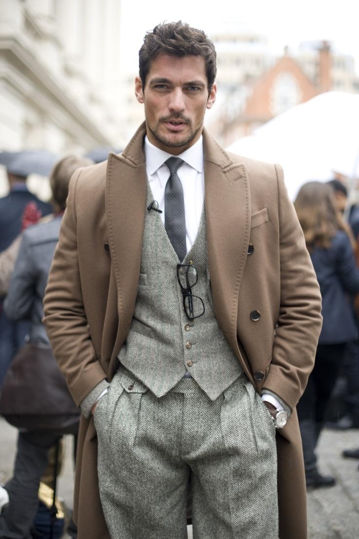 How To Wear Grey Herringbone Wool Dress Pants For Men 6 Looks