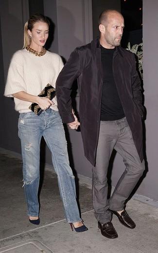 Rosie Huntington-Whiteley wearing White Mohair Oversized Sweater ... 775de28eb9
